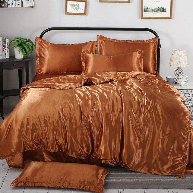 100% Pure Satin Silk Bedding Set
