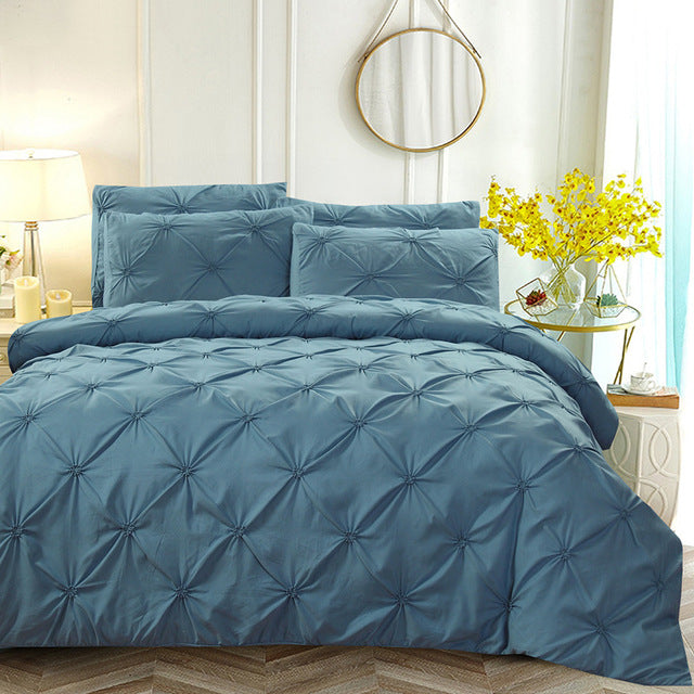 Soft Pinch Pleat Bedding Set