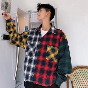 Oversize Cotton Plaid Shirt