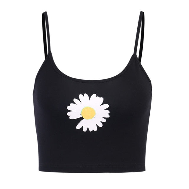 2019 Fashion Trend Women Halloween Devil Print Crop Vest Top Casual Summer Stylish Ladies Clubwear Camisole Tank Sun-Tops
