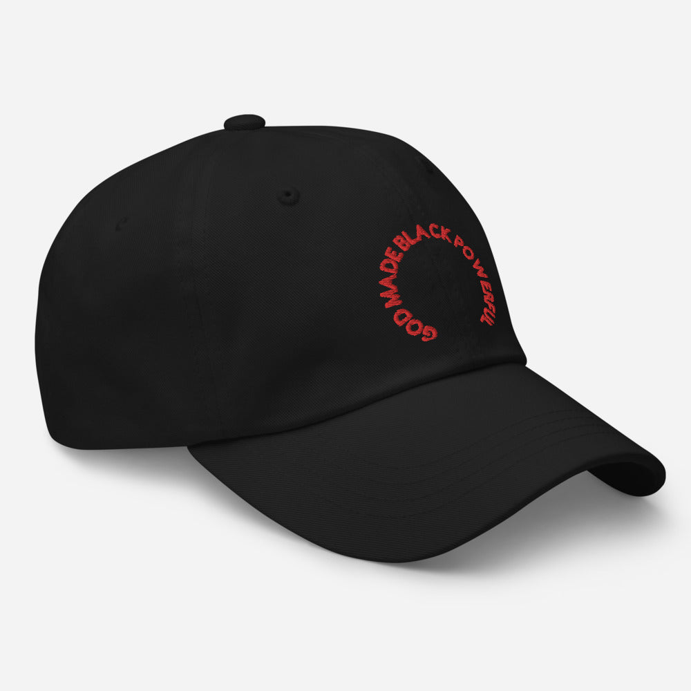 GOD MADE BLACK POWERFUL dad hat
