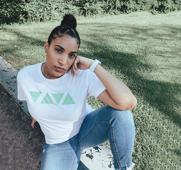 """Go Green Triangle Tee"" by SUPEREGO X 9SUPPLYCO"