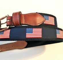 Load image into Gallery viewer, Belt American Flag on Navy