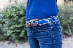 Belt Nautical Flags on Navy