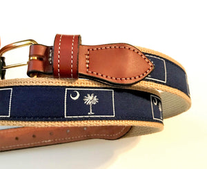 Belt Navy with Palmetto Tree