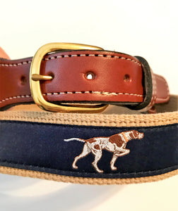 Belt Pointer Dog on Navy