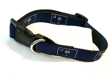Load image into Gallery viewer, Dog Collar Navy Palmetto Tree