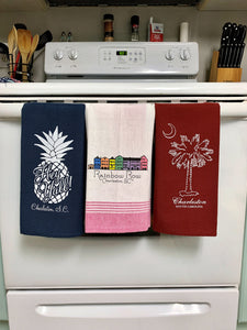 "Tea Towel Pineapple ""Hey Y'all"""