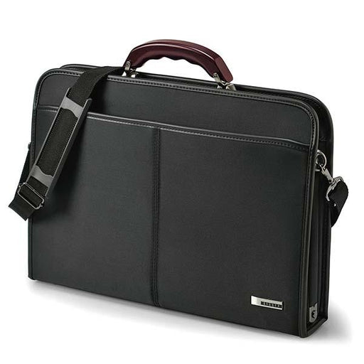 Wood handle briefcase L