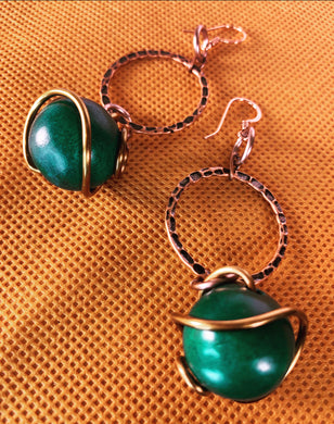 Paint Me Green Earrings
