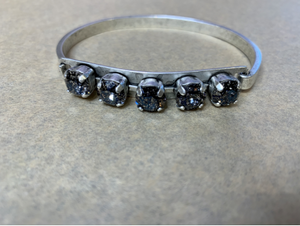 Denim Rhodium Bangle