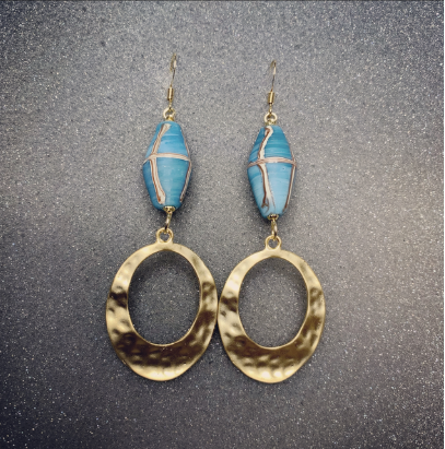 Blue Java Earrings