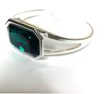 Load image into Gallery viewer, Faceted Silver Cuff