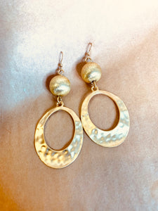 Golden Wave Earrings