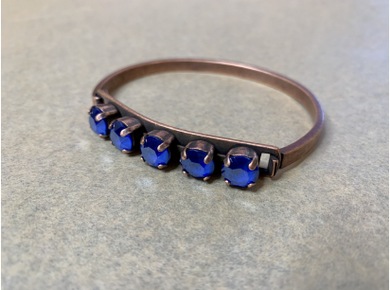 Majestic Blue Copper Bangle