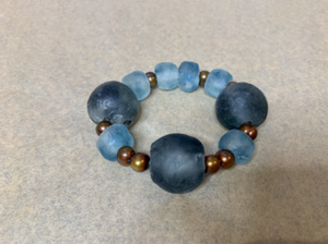 Teal & Blue Wave Bracelet