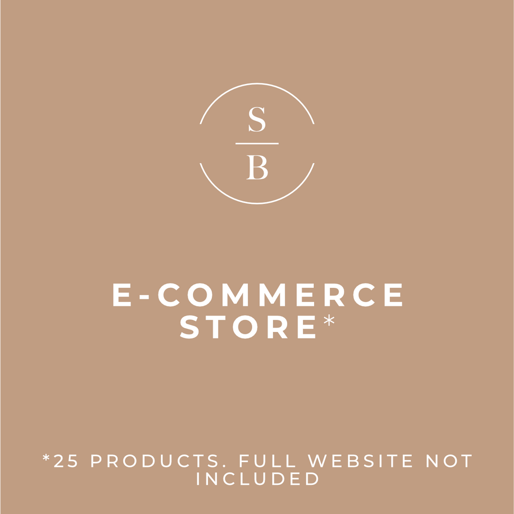 E-Commerce Store (Full-Website Not Included)