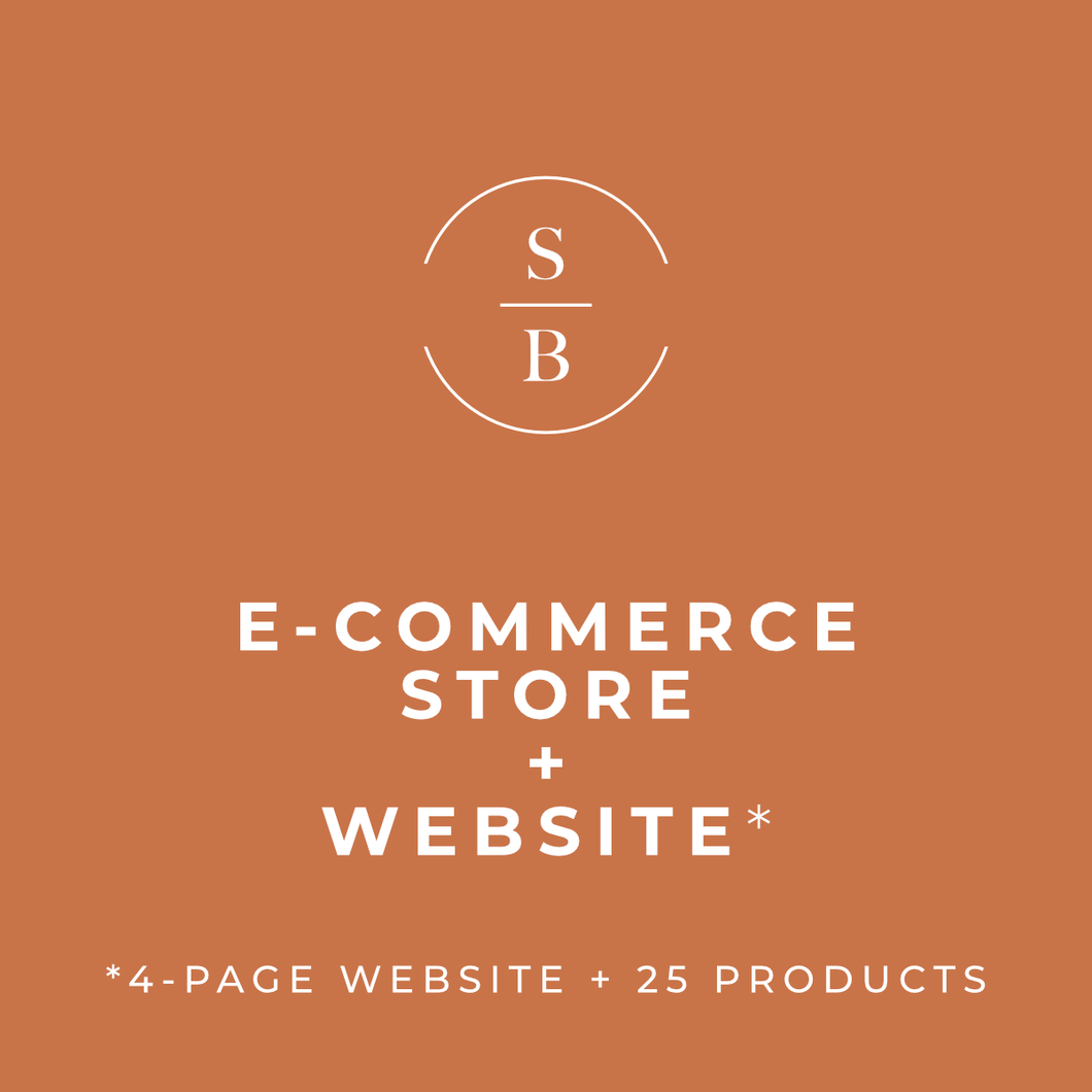 E-Commerce Store + Website