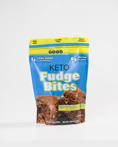Keto Fudge Bites - Delicioso snack de chocolate 161g
