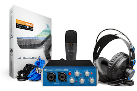 PreSonus Audiobox 96 Recording Studio Bundle