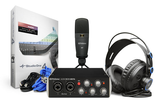 PreSonus Audiobox 96 Recording Studio Bundle (Black)