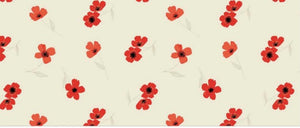 Laura Ashley - Oxford Collection - Story Time Floral in Cream - Poppies