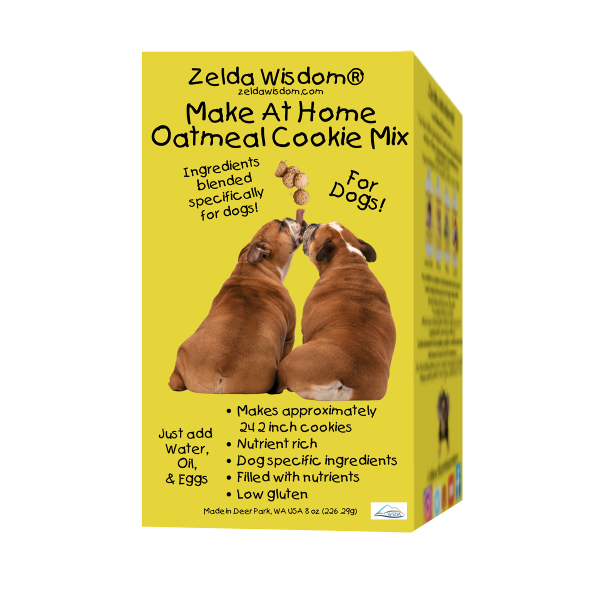 Bake At Home Oatmeal Cookie Mix For Dogs, All Natural with Healthy Ingredients