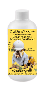 Shampoo Conditioner Cedar Hypoallergenic for Puppies, Adults, and Senior Dogs