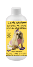 Load image into Gallery viewer, Shampoo Conditioner Lavender Hypoallergenic All-In-One  for Puppies, Adults, and Senior Dogs