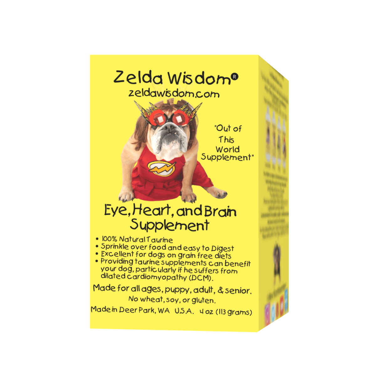 Supplement Taurine Blend Essential for Heart, Eye, and Brain for Dogs on GRAIN FREE DIETS