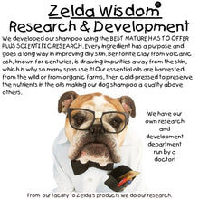 Load image into Gallery viewer, Zelda Wisdom Dog Shampoo & Conditioner, All Natural, Hypoallergenic Minty Fresh 16 oz