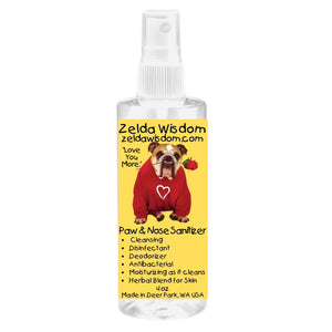 Zelda Wisdom  All Natural Paw and Nose Sanitizer