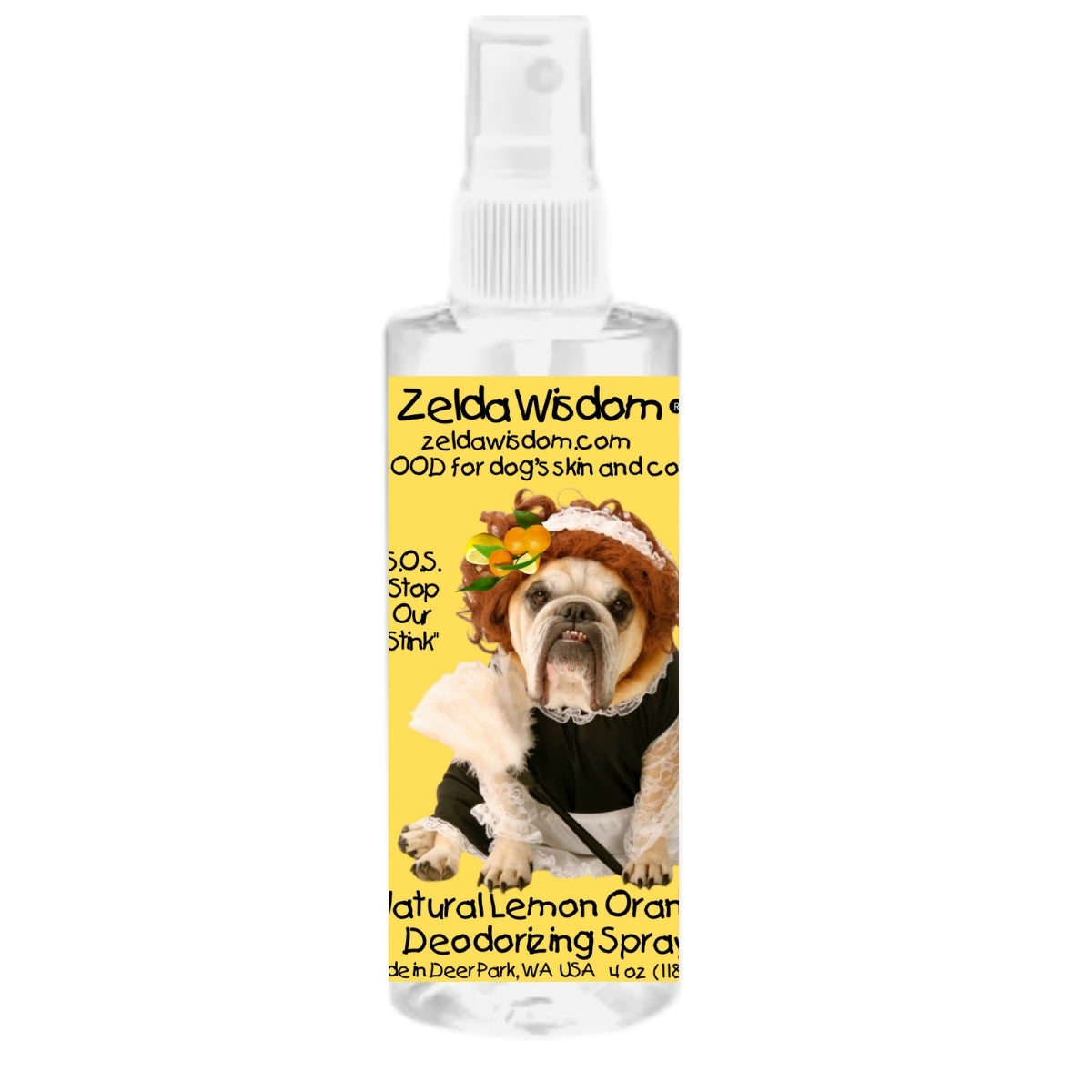 Deodorizer Natural Lemon-Orange Hypoallergenic Good for Skin and Fur