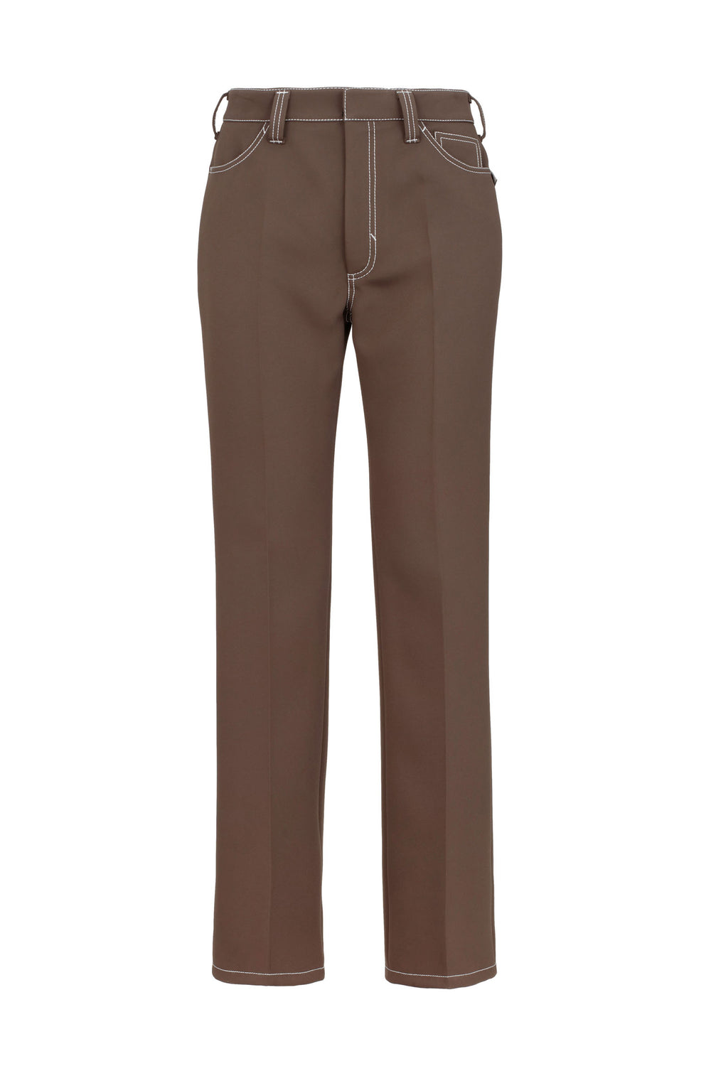 Trousers With Contrasting Stitching