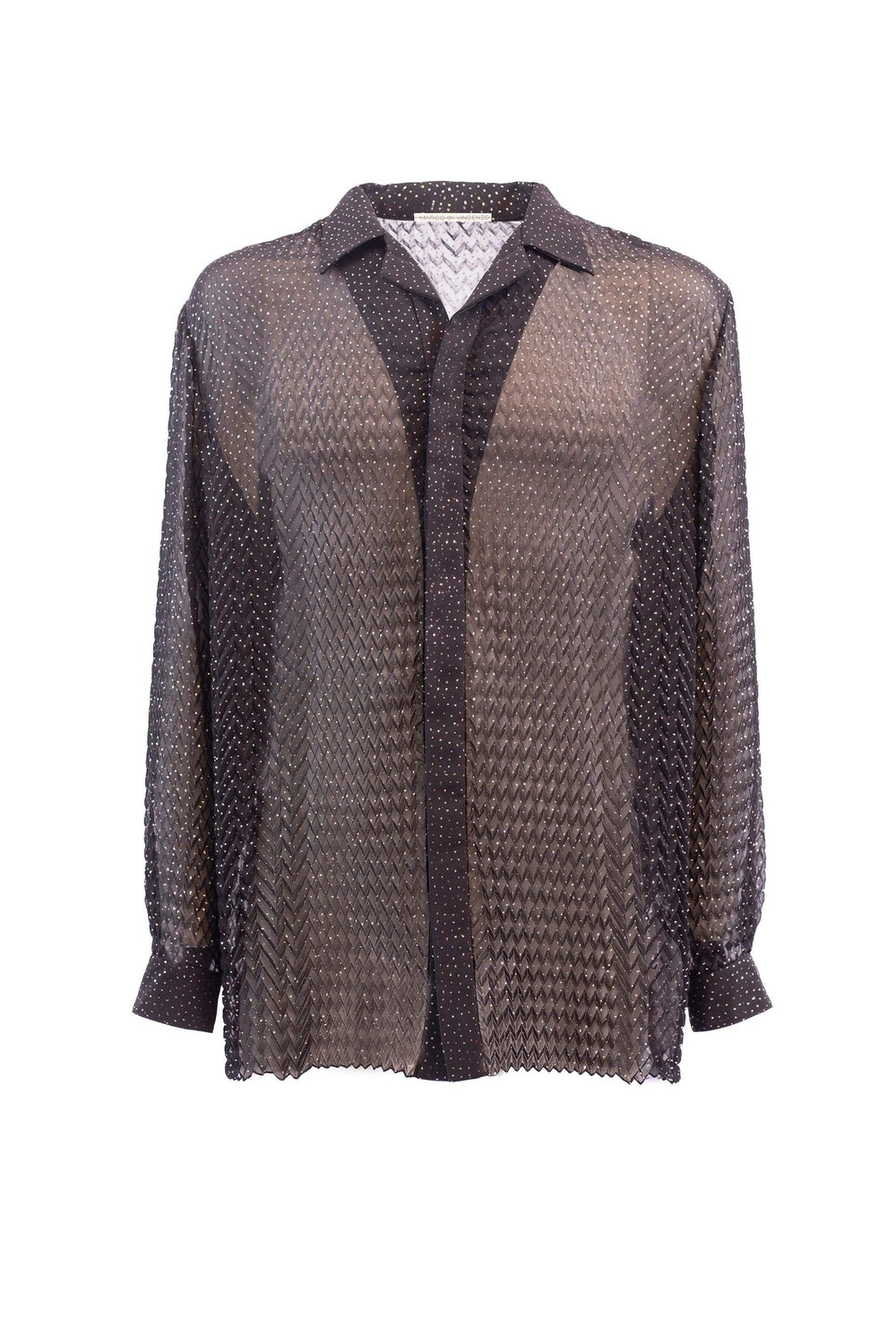Georgette shirt with 3D effect