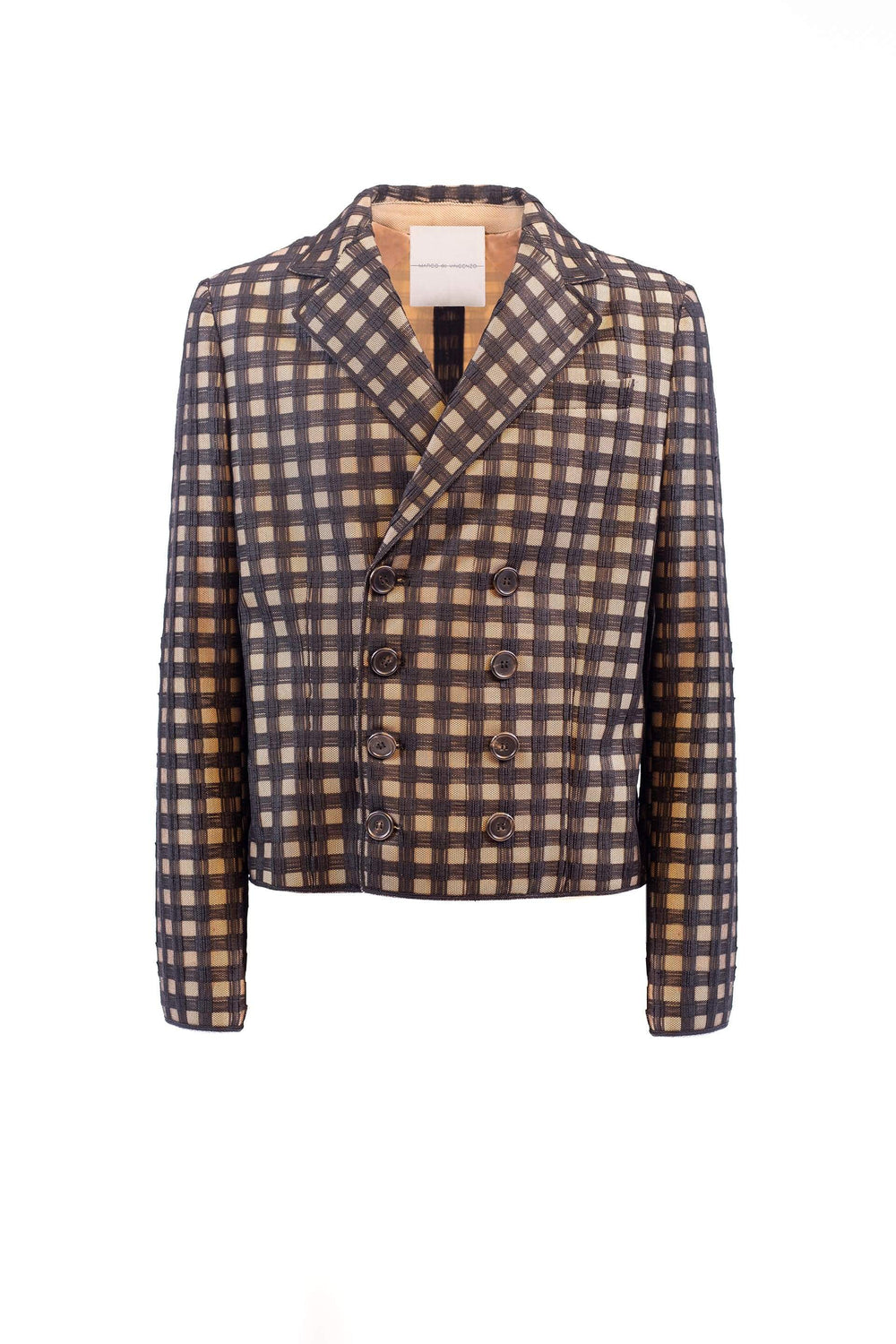 Checked double-breasted jacket