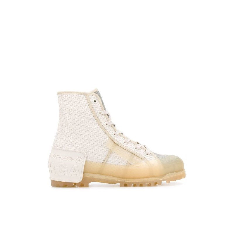 Canvas and rubber sneakers ankle boots