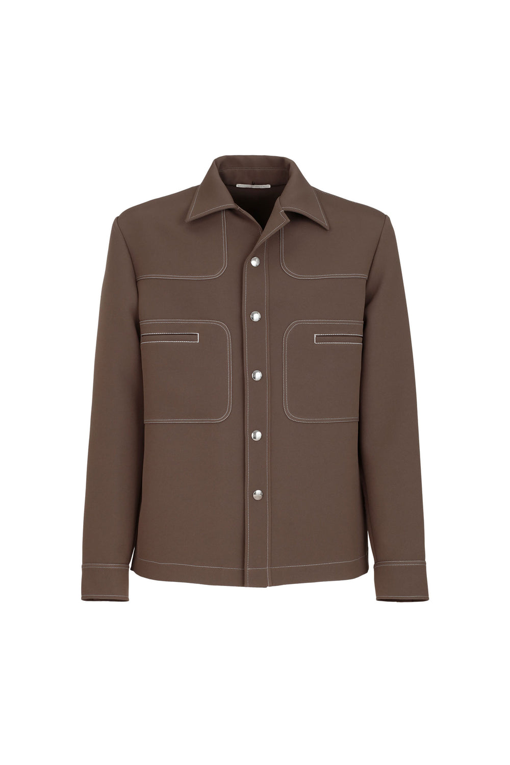 Overshirt With Contrasting Stitching