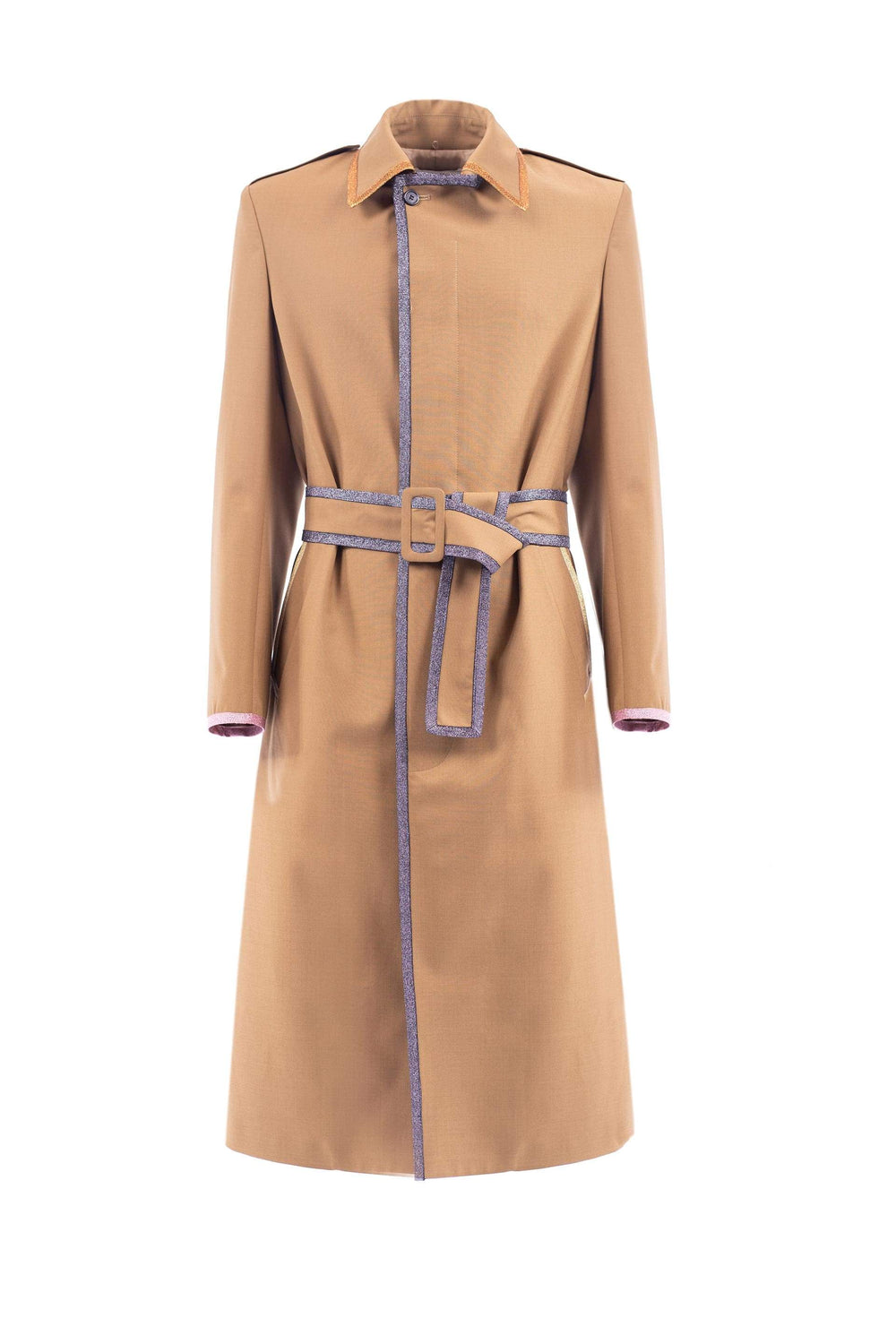 Trench coat with Lurex trim