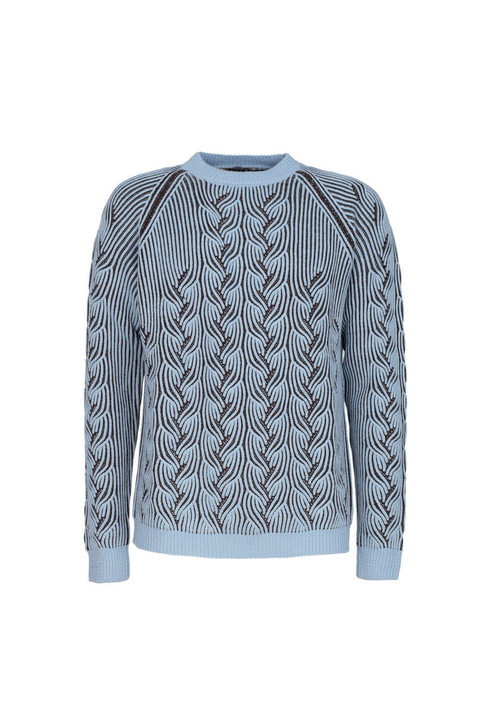 Cable-knit Bicolor Jumper