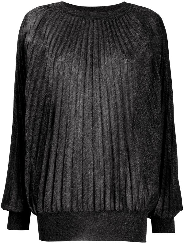 Round Neck Pleated Jumper