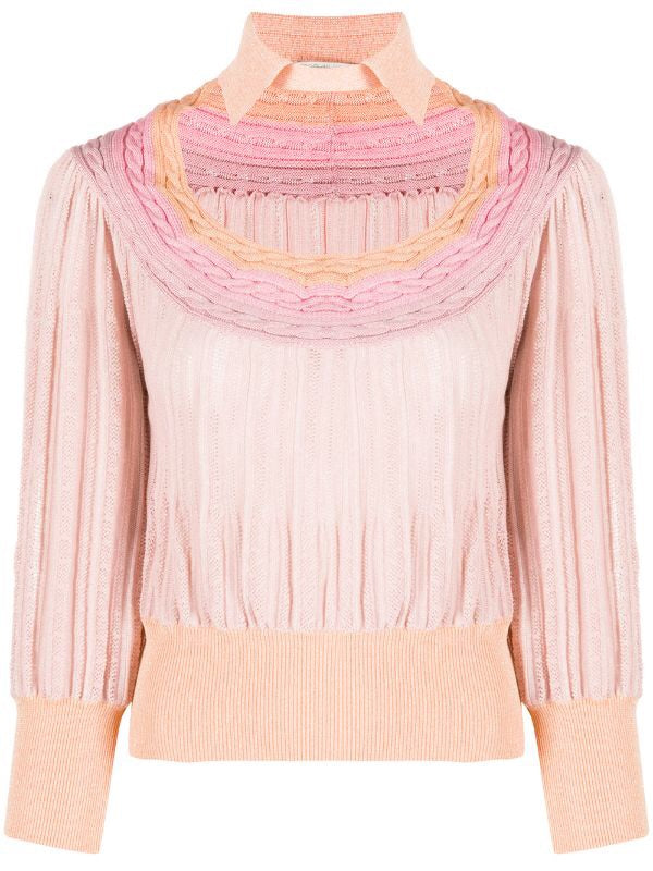 Cut-out Collar Jumper