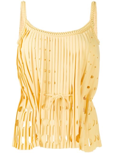 Cut-out Pleated Top