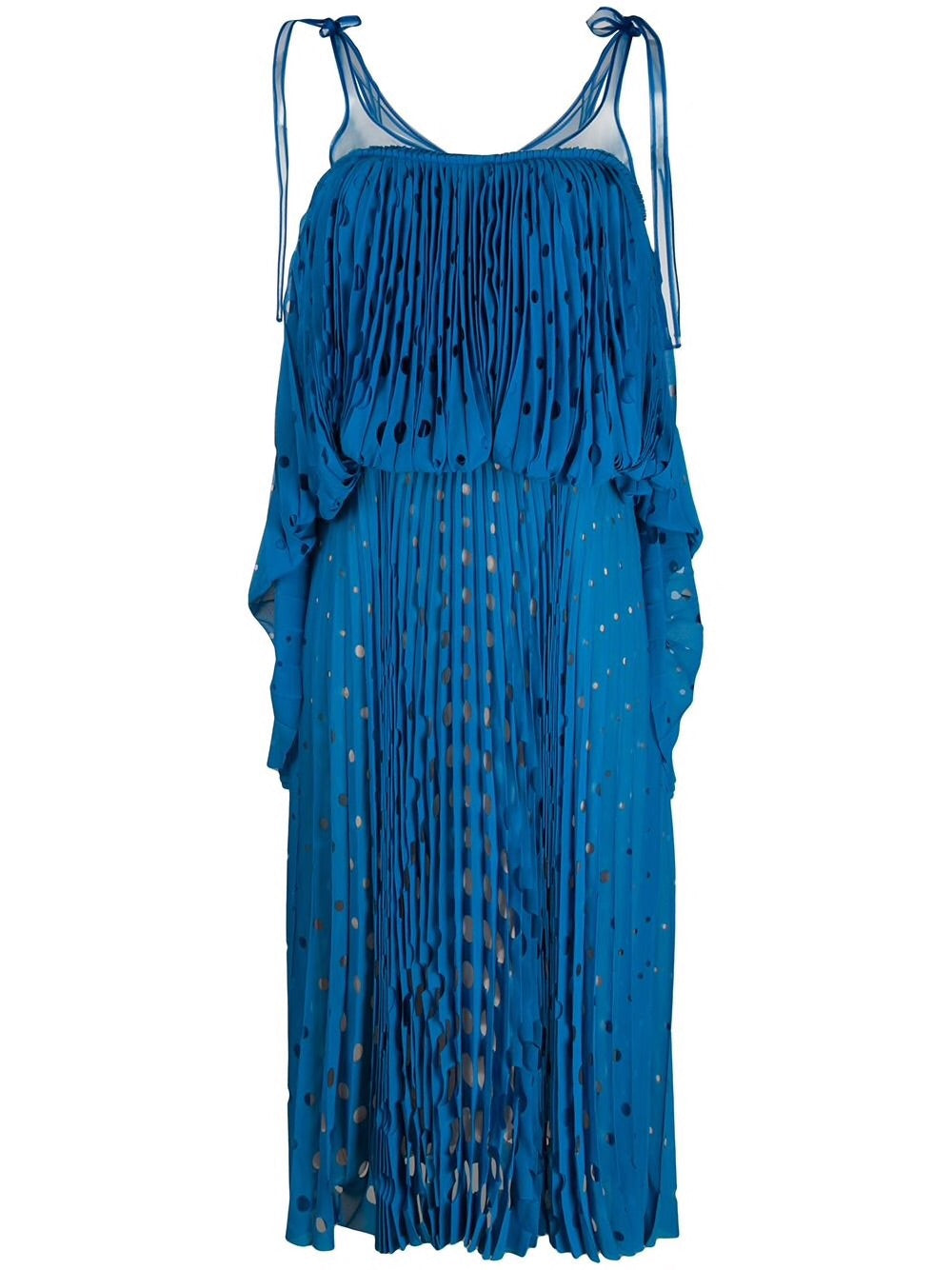 Cut-Out Pleated Dress