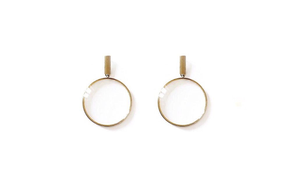 Magnifying Glass Earrings
