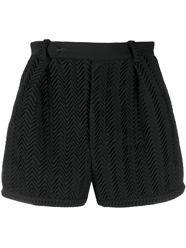 Zig-zag Pleated Shorts