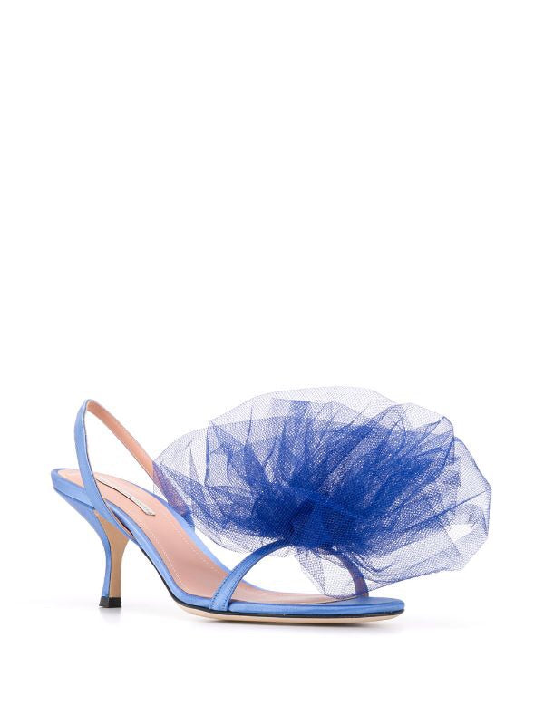 Tulle Bow Sandals