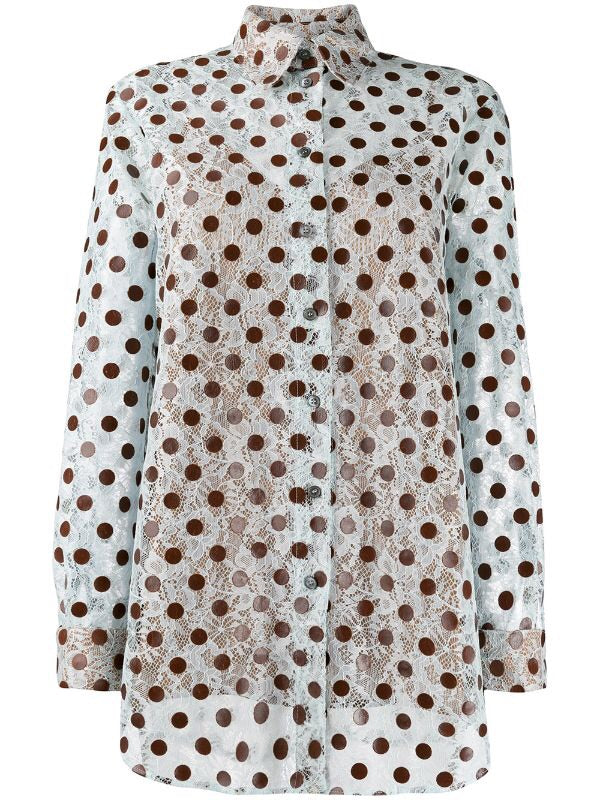 Polka-dot Lace Blouse