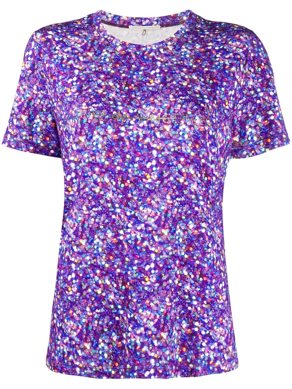 T-shirt with glitter print