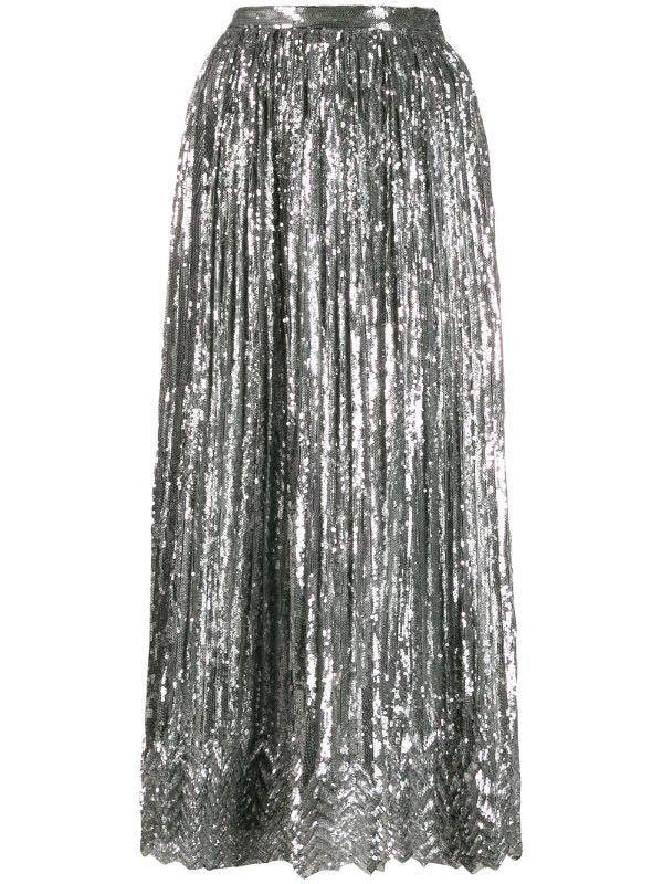 Sequin Mid-Length Skirt